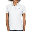 Gildan Women's DryBlend Double Pique Polo Shirt - White - Printed