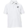 Gildan Kid's DryBlend Double Pique Polo Shirt - White - Printed