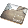 View Image 1 of 2 of Square Cork Coaster - Full Colour