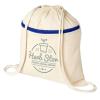 View Image 1 of 3 of Oregon Zip Cotton Drawstring Bag