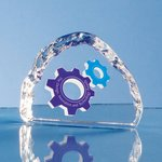 Crystal Ice Block Paperweight