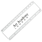 15cm Adview Ruler - Clear/White