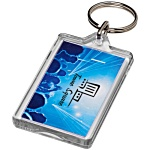 Rectangular Re-Openable Keyring - Full Colour