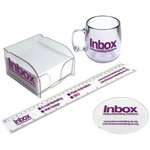 Promotional Items - Ruler, Coaster, Mug, Mini Block Mate