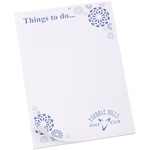A6 50 Sheet Notepad - Flowers Design