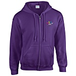 Gildan Zip Hooded Sweatshirt - Embroidered
