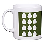Cambridge Mug - White - Leaf Design