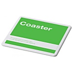 Promotional Coaster - White - Square - Colours Design