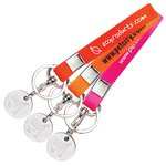 Silicone Band with Trolley Coin Keyring - Euro