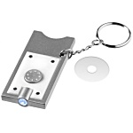 Euro-Coin Holder Keyring with Torch