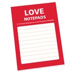 A7 50 Sheet Notepad - I Love Design