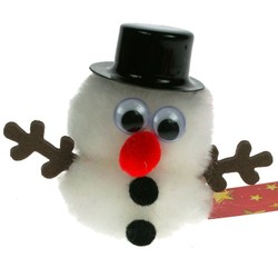 View a larger, more detailed picture of the Festive Message Bugs - Snowman