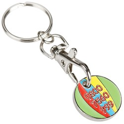 View a larger, more detailed picture of the Trolley Coin Keyring