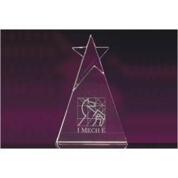 View a larger, more detailed picture of the Optical Crystal Star Award