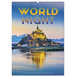 View a larger, more detailed picture of the Wall Calendar - World By Night