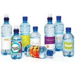 Water bottles with custom labels