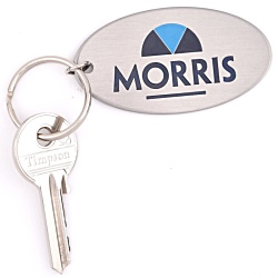View a larger, more detailed picture of the Embossed Steel Keyring - Extra Large