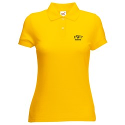 View a larger, more detailed picture of the Fruit of The Loom Ladies Pique Polo Shirt