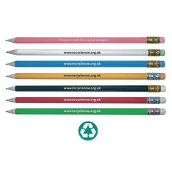 View a larger, more detailed picture of the DISC Newspaper Recycled Pencil - 2 day