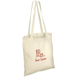 View a larger, more detailed picture of the Eco-Friendly Long Handled Tote Bag - Natural - 2 Day