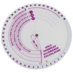 View a larger, more detailed picture of the Golf Handicap Disc
