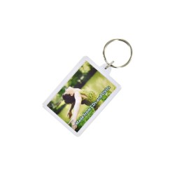 View a larger, more detailed picture of the DISC Recycled Rectangular Keyring - Full Colour