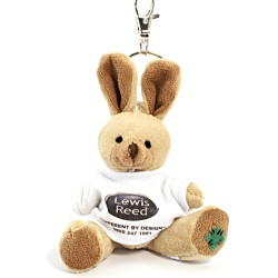 View a larger, more detailed picture of the DISC Rabbit Keyring - T-Shirt