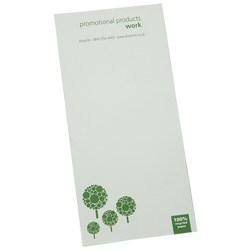 View a larger, more detailed picture of the DISC Slimline Recycled 25 Sheet Notepad - Green Design 2