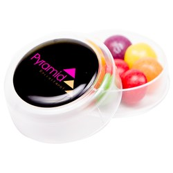 View a larger, more detailed picture of the Mini Round Sweet Pot - Skittles