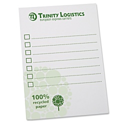 View a larger, more detailed picture of the DISC A6 Recycled 25 Sheet Notepad - Green Design 3