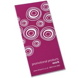 View a larger, more detailed picture of the Slimline Notepad with Printed Cover - Spiro Design