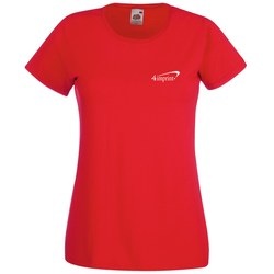 View a larger, more detailed picture of the Fruit of the Loom Value Ladies Tee - Coloured
