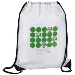 View a larger, more detailed picture of the Economy Drawstring Bag - Polka Dot Design - 2 Day