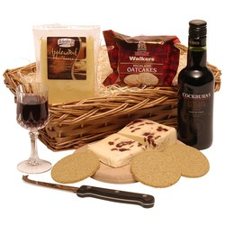 View a larger, more detailed picture of the Cheese & Port Hamper