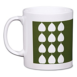 View a larger, more detailed picture of the Cambridge Mug - White - Leaf Design