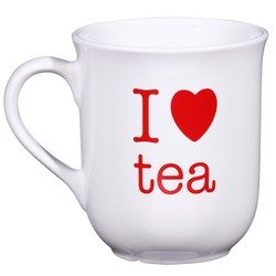 View a larger, more detailed picture of the Bell Mug - White - I Love Design