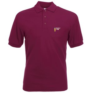 Fruit of the Loom Value Polo - Coloured - Embroidered Main Image