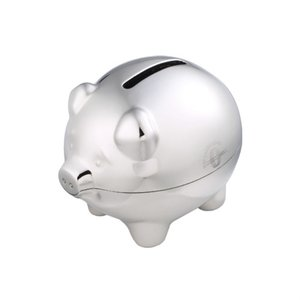 DISC Chrome Piggy Bank Main Image