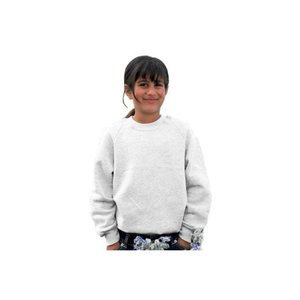 DISC Kids Raglan Sweatshirt - White Main Image