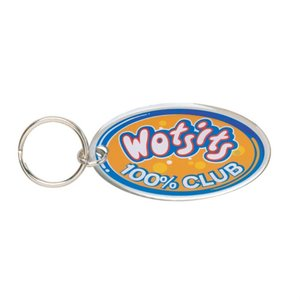 Printed Steel Keyring - Oval Main Image