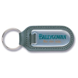 DUPL Steel & Leather Keyring - Large Main Image