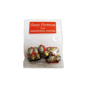 Bag of 5 Chocolate Santas Main Image