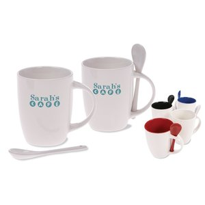 DISC Mug & Spoon - White