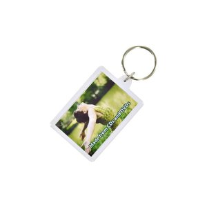 DISC Recycled Rectangular Keyring - Full Colour