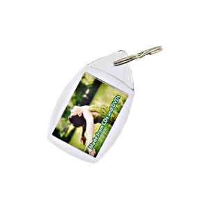 DISC Recycled Plastic Keyring - Full Colour Main Image