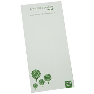 DISC Slimline Recycled 25 Sheet Notepad - Green Design 3