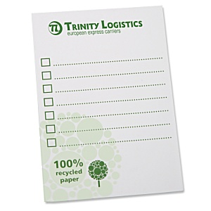DISC A6 Recycled 25 Sheet Notepad - Green Design 3 Main Image
