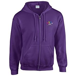 Gildan Zipped Hooded Sweatshirt - Embroidered Main Image