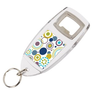 Bottle Opener Keyring - Full Colour Main Image