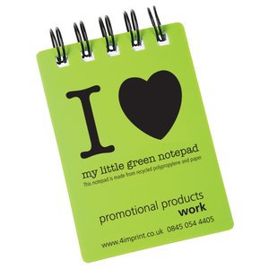 A7 Recycled Jotter - I Love Design Main Image